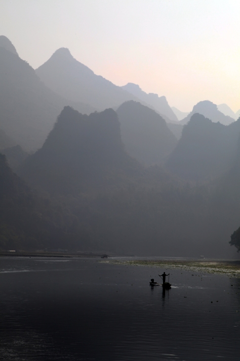 Photo taken in Guilin while sipping a cup of tea.