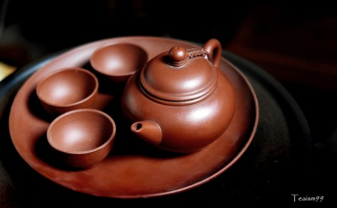 Traditional teochew teapot, cups and saucer