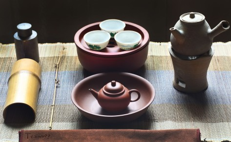 Chaozhou tea brewing set up